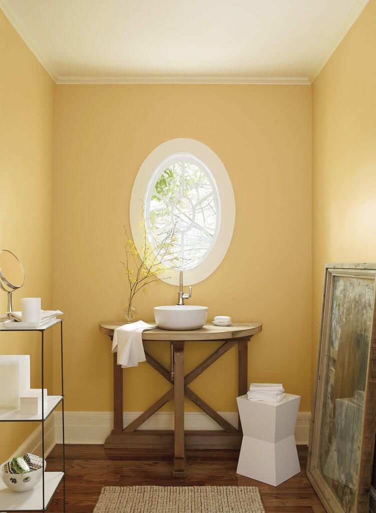 Yellow Gold Paint Color Living Room A Shot Of Sun Raleigh Magazine